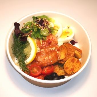Teriyaki forell salati padjal